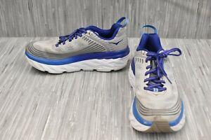Hoka One One Bondi 6 1019269 Running Shoes, Men's Size 7.5, Grey/Blue