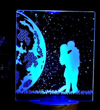 Personalized 7 Colors Changing 3d DEL Lamp Remote Control Can Add Name or texte
