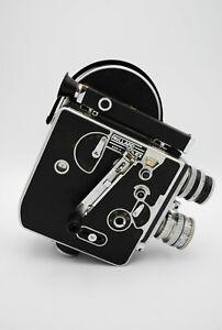 Bolex H16 non reflex with Switar 25mm 1.4 & kodak anastigmat 15mm 2.7 sn 110073
