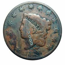 Large cent/penny 1828 unusual counterstamp zeros