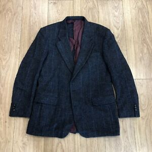 Harris Tweed Jacket (for Rework) L Large 42 Inch Chest Blue B6079