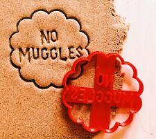 "Сookie cutter ""No muggles"" Harry Potter cookiecutter cookies custom shape"