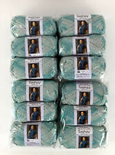 Red Heart Yarn Boutique Sashay Metallic Icy Mint, Pack Lot of 12 Balls Skeins
