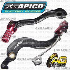 Apico Black Red Rear Brake & Gear Pedal Lever For Honda CRF 250X 2012 Motocross