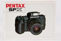 Bedienungsanleitung Pentax SFX SF X SF-X Anleitung