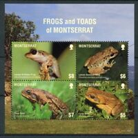 Montserrat 2018 MNH Frogs & Toads Cane Toad Frog 4v M/S Amphibians Stamps