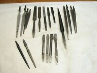 Lot 20 Antique Brace Bits Drill Wood Boring Tool Spoon Buck Screwdriver Reamer