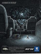PUBLICITE ADVERTISING 045  2005  PEUGEOT  307SW