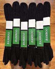 6 Pairs SIZE 6-11 98% BAMBOO SOCKS Men Heavy Duty Premium Thick Work Socks BLACK