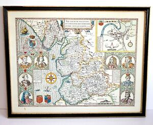 The County Pallatine of Lancaster Described and Divided 1610 Map Reproduction