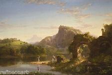 Thomas Cole L'Allegro Giclee Canvas Print