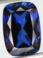 7.98CT. EXCELLENT CUT CUSHION 13x9 MM. BLUE SAPPHIRE LAB CORUNDUM