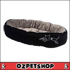 Rogz Podz: Snug Pod - Cat Bed - Black Jumping Cat - Medium