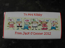 10 x Personalised Chocolate Bars- 40g - Thank you Teacher TA Dinner Lady