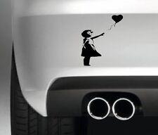 Banksy Girl With Heart CAR BUMPER STICKER FUNNY DRIFT JDM WALL ART
