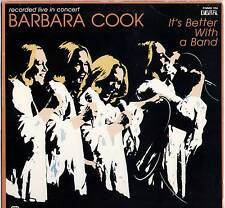 BARBARA COOK~IT'S BETTER WITH A BAND~1981 US 10-TRACK LP~MMG/DIGITAL D-MMG 104
