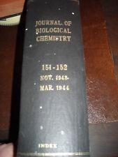 Journal of Biological Chemistry 151 -152 Nov. 1943 Mar. 1944 Index   used