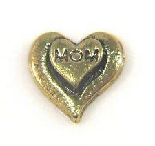 Floating Charms Mini Charm Living Memory Locket Pendant Hearts Gold Mom 9mm