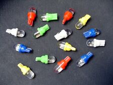 15 BRIGHT Assorted LEDs Side Marker License Plate Lights Bulbs Domes For Imports