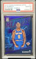 2019 Optic MY HOUSE PURPLE REFRACTOR Knicks RJ BARRETT RC Card PSA 10 GEM Pop 80