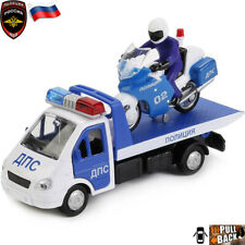 Tow Truck GAZelle With Motocycle Russian Police Toy Cars