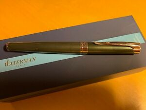 WATERMAN L'etalon Green Cascade Fountain Pen with 18K Nib (F)