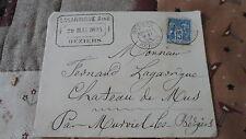 Enveloppe + Sage 15c YT 90 - de Béziers à Murviel les Béziers - 1894