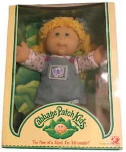 Cabbage Patch Kids Doll May 5 2004 Shayla Allison Blond Hair Blue Eyes Girl NIB
