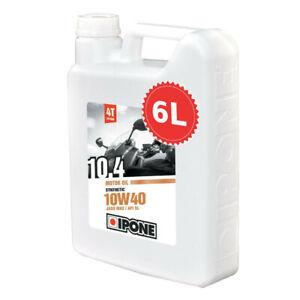 Huile IPONE 10.4 synthétique 6 litres 10w40 6L moto route moteur bidon promotion