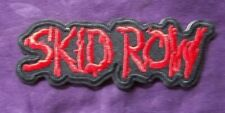 SKID ROW PATCH EMBROIDERED HEAVY METAL HAIR METAL 80'S SEBASTIAN BACH SEW/ IRON