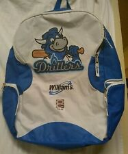 WILLIAMS•8•abc•Tulsa•Baseball•Drillers• Backpack•Blue/White