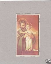Vintage Catholic Holy Bible Prayer Card  Dated 1961  DieCut  Made in USA
