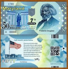 USA States, Maryland, $50, Polymer, ND (2014), P-N/L, UNC