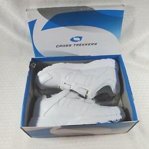 Cross Trekkers Men's Double Strap Walker Wide Shoes White Color size 8 1/2 Wide.
