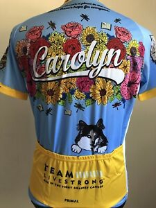 LIVESTRONG Cycling Jersey PRIMAL Unisex Women's XL men's L CATS