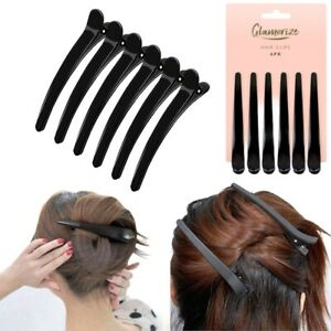 6pc Black Sectioning Hairdressing Clips Long Hair Clips Hairstyle Clips Salon UK