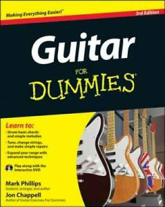 Guitar For Dummies, with DVD - Paperback By Phillips, Mark - VERY GOOD