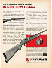 1970 Sturm Ruger 10/22 Carbine Rifle with 10-shot rotary magazine Vtg Print Ad