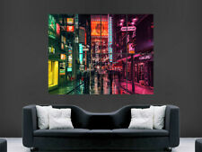 TOKYO CITY NEON LIGHTS STREET POSTER BRIGHT LIGHTS ART PRINT