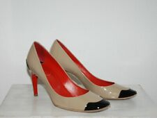 ROGER VIVIER * Nude Schwarz Rot Lackleder PUMPS * TOP * 38,5