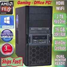 AMD FX 8320e 3.5Ghz Turbo 8-Core Desktop PC~16GB DDR3~2 TB HDD~HDMI~Win 10  Pro