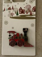Authentic Disney Mickey On A Holiday Train 2019 Christmas Pin NEW On Card