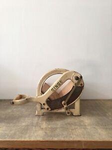 Vintage Danish 50s Cream Cast Iron Bread Cutter Ginge Raadvad Kitchenalia Prop