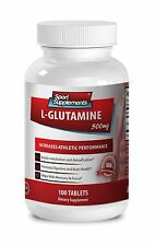 Post Workout Recovery Supplement - L-Glutamine 500mg - Protein Capsules 1B