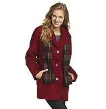 Forecaster Woman Single-Breasted Red Wool Blend Jacket with Scarf - BNWT 18W