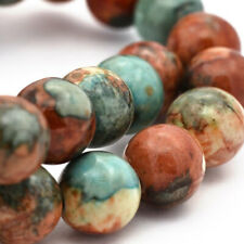 25 Jade Beads 6mm Dyed Desert Tones Gemstone Beads - BD940