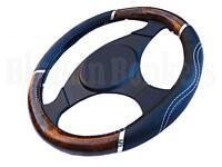 CAR VAN WOODEN STEERING WHEEL COVER WOOD EFFECT UNIVERSAL SLEEVE GRIP GLOVE 30B