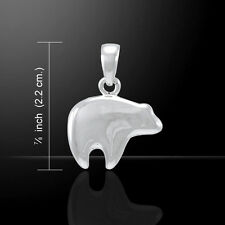 Polar Bear .925 Sterling Silver Pendant by Peter Stone