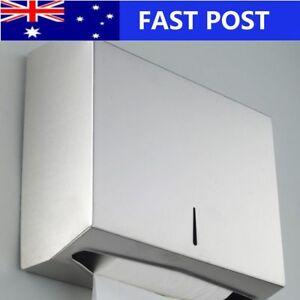 201 Stainless Steel Hand Paper Towel Dispenser Holder Toilet Washroom Heavy