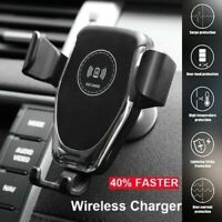 Wireless Car Charger Fast Qi Mount Holder for iPhone Samsung LG Huwai
